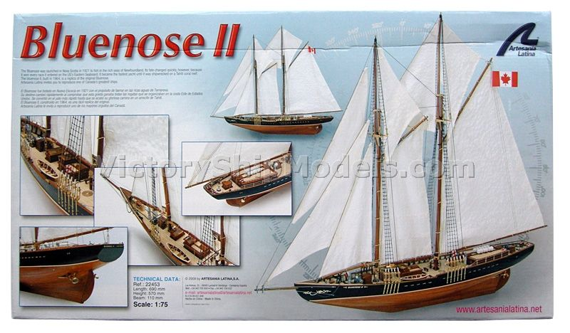 Ship model kit Bluenose II, Artesania Latina