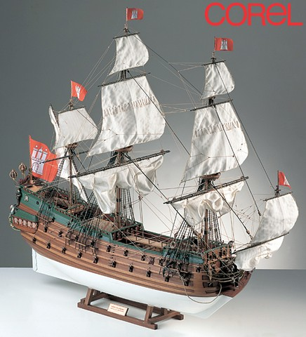Ship model wooden kit Wappen von Hamburg Corel (www.victoryshipmodels.com)