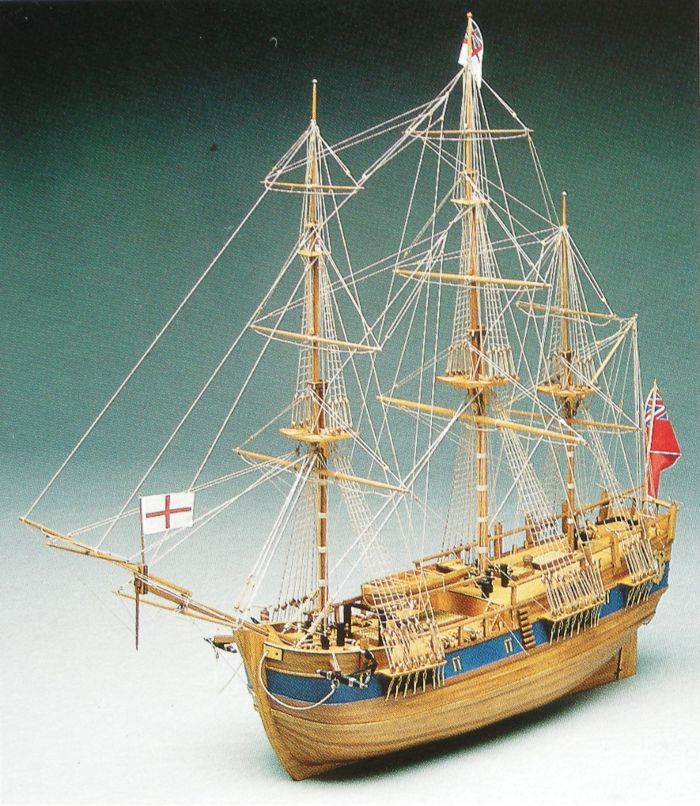 Ship Model Endeavour Wooden Kit Mantua Victoryshipmodels