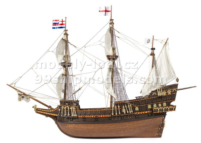 Golden Hind ship model Occre details. Victoryshipmodels.com