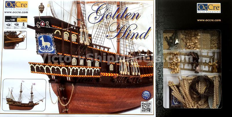 Ship model kit Golden Hind, Occre