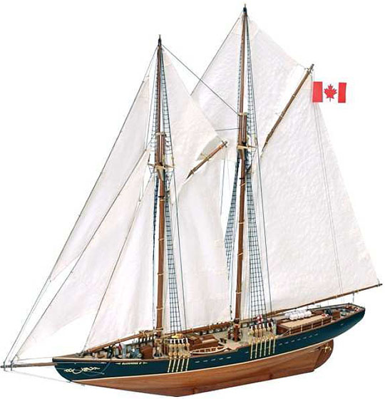 Ship model kit Bluenose II, Artesania Latina (www.victoryshipmodels.com)