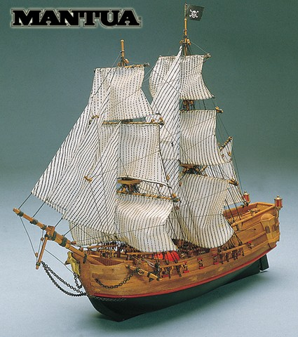 Ship model wooden kit Black Falcon Mantua Model (www.victoryshipmodels.com)