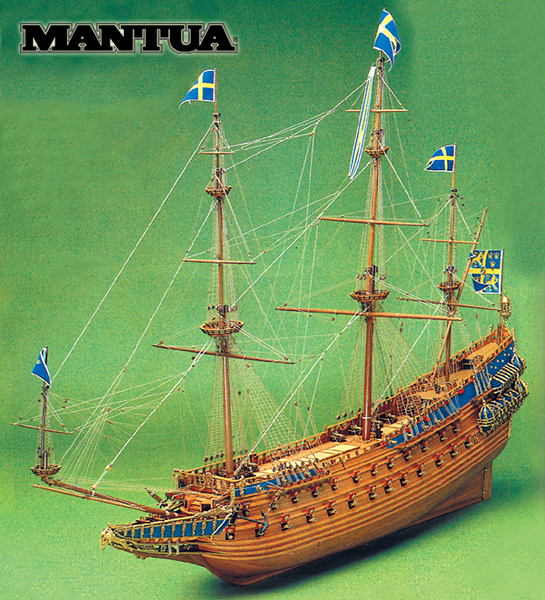 Ship model wooden kit Vasa Mantua Sergal (www.victoryshipmodels.com)