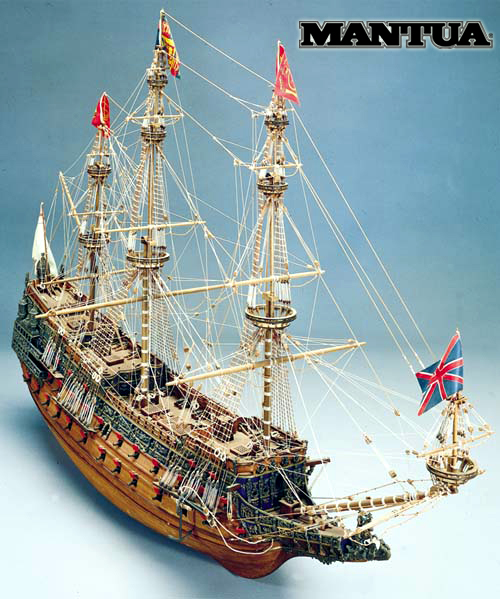 Ship model wooden kit Sovereing of Seas Mantua Sergal (www.victoryshipmodels.com)