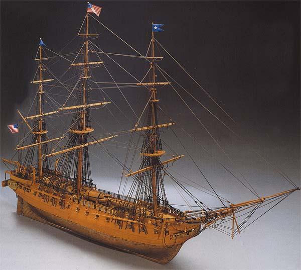 Ship Model Constitution Wooden Kit Mantua