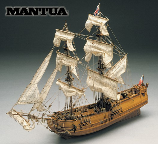 Ship Model Golden Star Wooden Kit Mantua